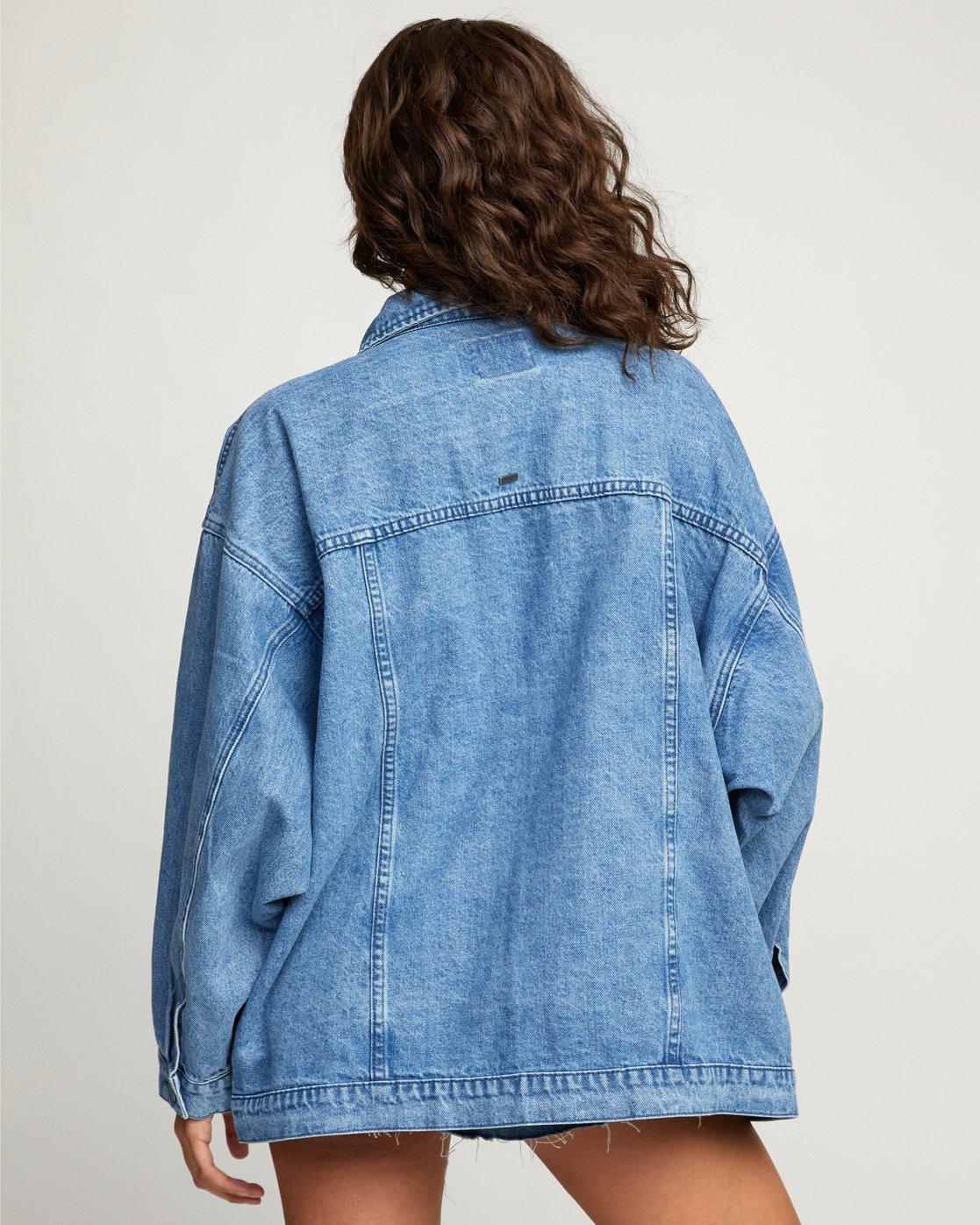 1 Stacey Rozich Lounger Denim - Veste en jean pour Femme Bleu U3JKRARVF0 RVCA