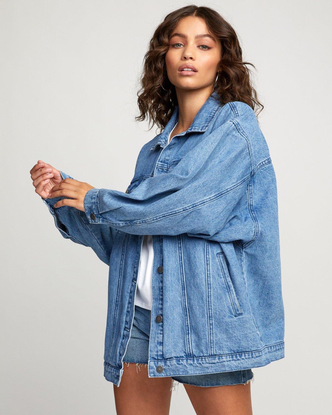 3 Stacey Rozich Lounger Denim - Veste en jean pour Femme Bleu U3JKRARVF0 RVCA