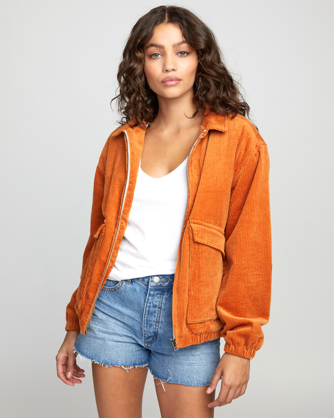 0 Viber Corduroy - Corduroy Jacket for Women Orange U3JKRCRVF0 RVCA