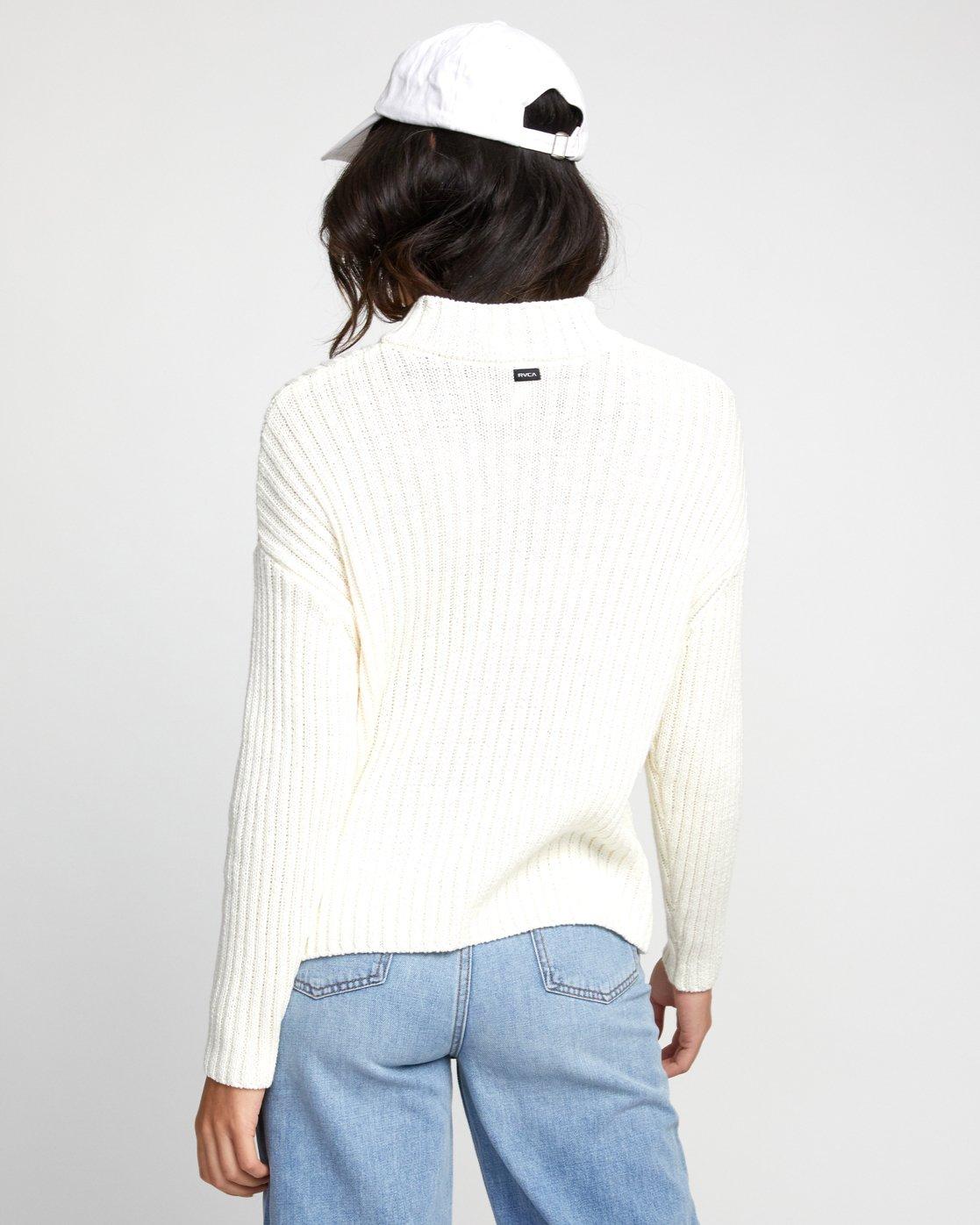 1 Arabella - Pull pour Femme Blanc U3JPRHRVF0 RVCA