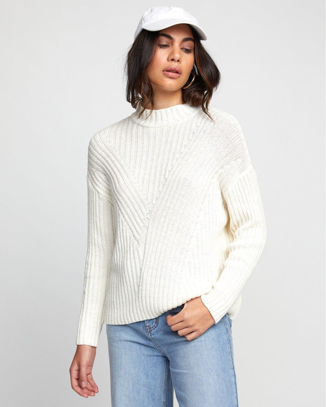 2 Arabella - Pull pour Femme Blanc U3JPRHRVF0 RVCA