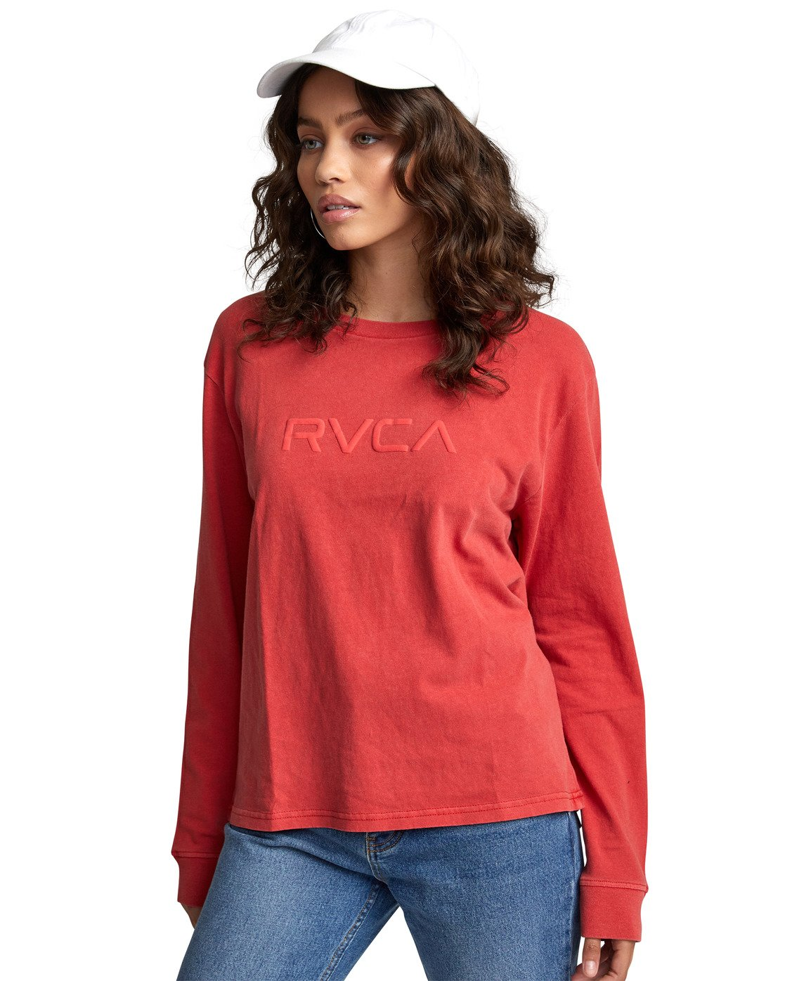 5 Big RVCA - Long Sleeve T-Shirt for Women Red U3LSRARVF0 RVCA