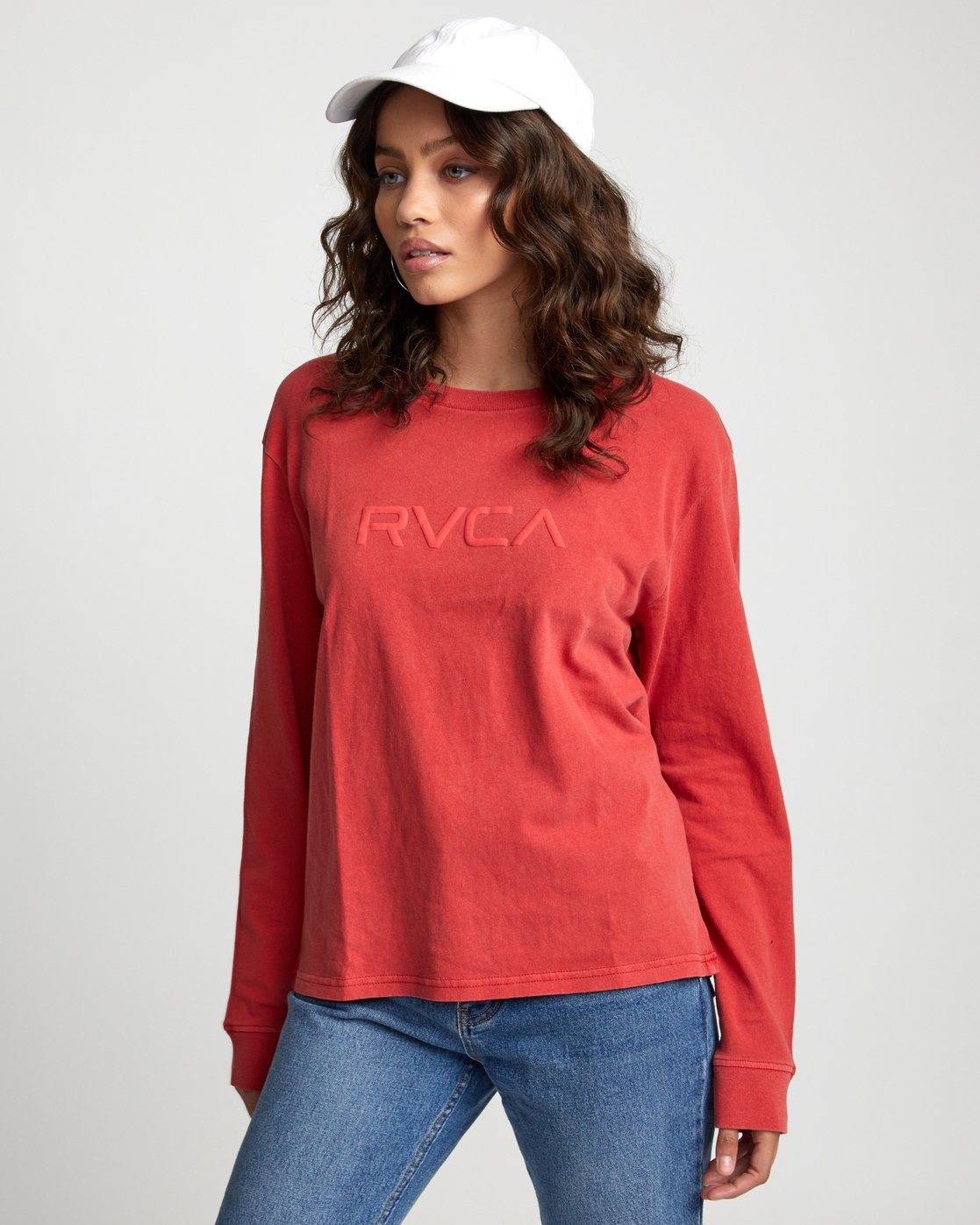 3 Big RVCA - Long Sleeve T-Shirt for Women Red U3LSRARVF0 RVCA