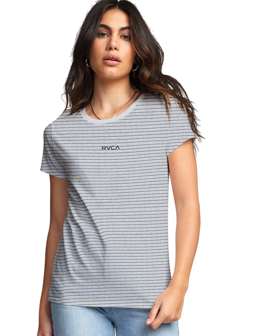 1 Ruff Stripe - T-Shirt for Women White U3SSRCRVF0 RVCA