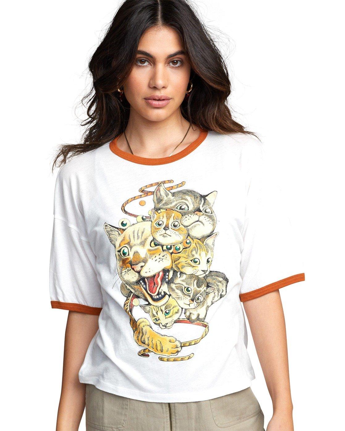 5 Shintaro Kago Cats - T-Shirt for Women White U3SSRGRVF0 RVCA