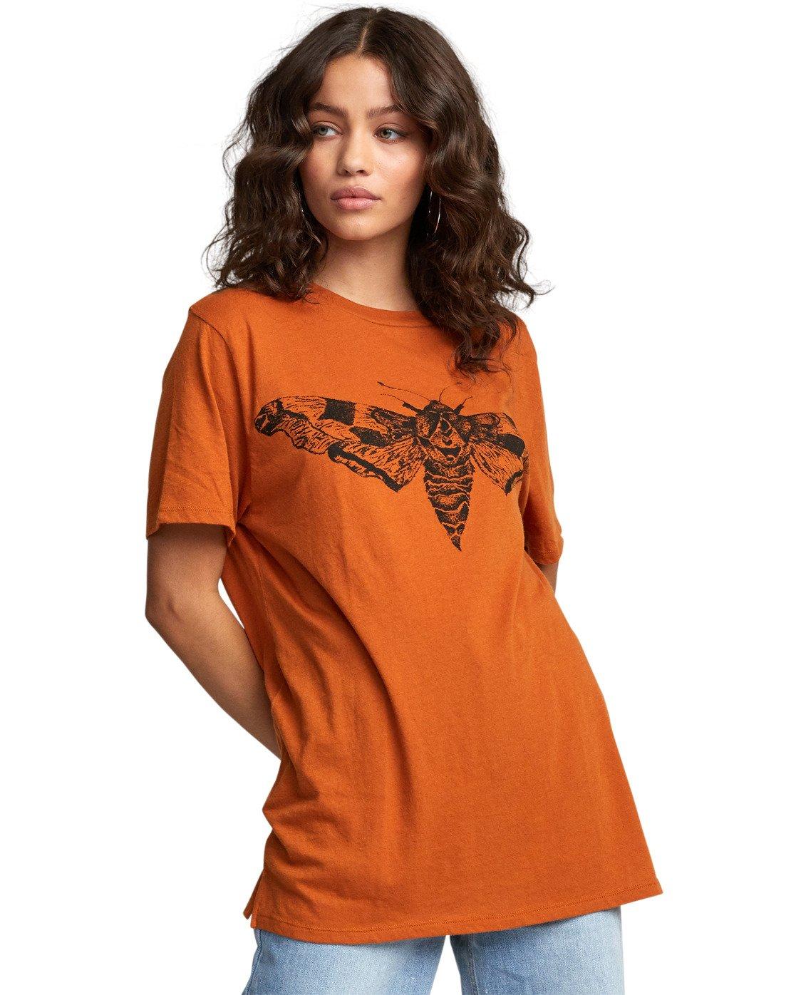 6 Luna Moth - T-Shirt for Women Orange U3SSRKRVF0 RVCA