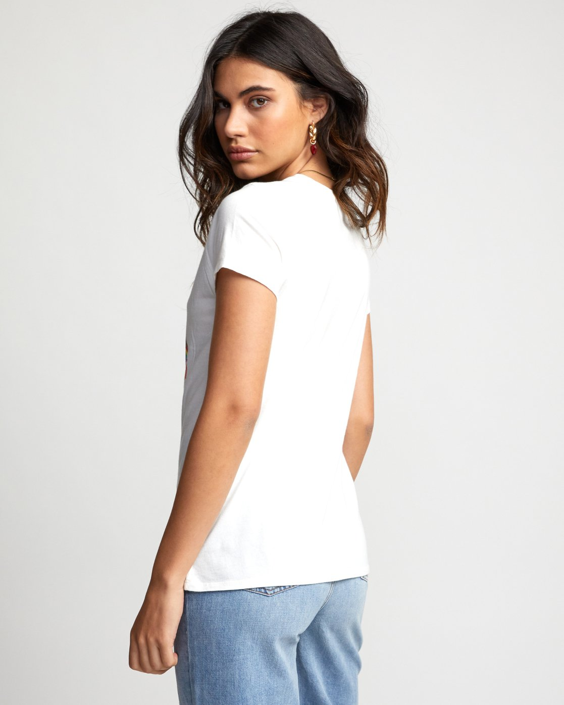 4 Matt Furie Rainbow Yoga - T-Shirt for Women White U3SSRMRVF0 RVCA