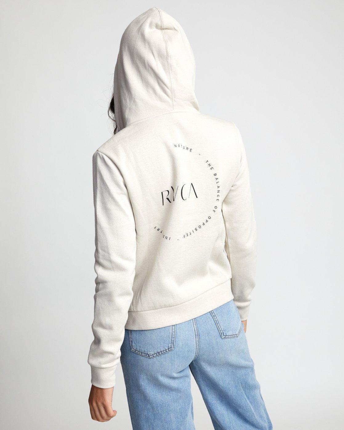 1 Encircled Zip - Zip-Up Hoodie for Women Beige U3ZHRARVF0 RVCA
