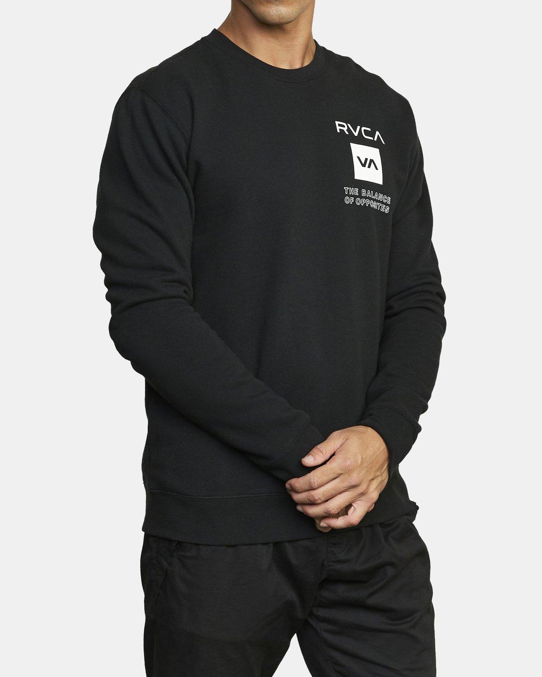 2 VA Sport Graphic - Sweat pour Homme Noir U4CRMARVF0 RVCA