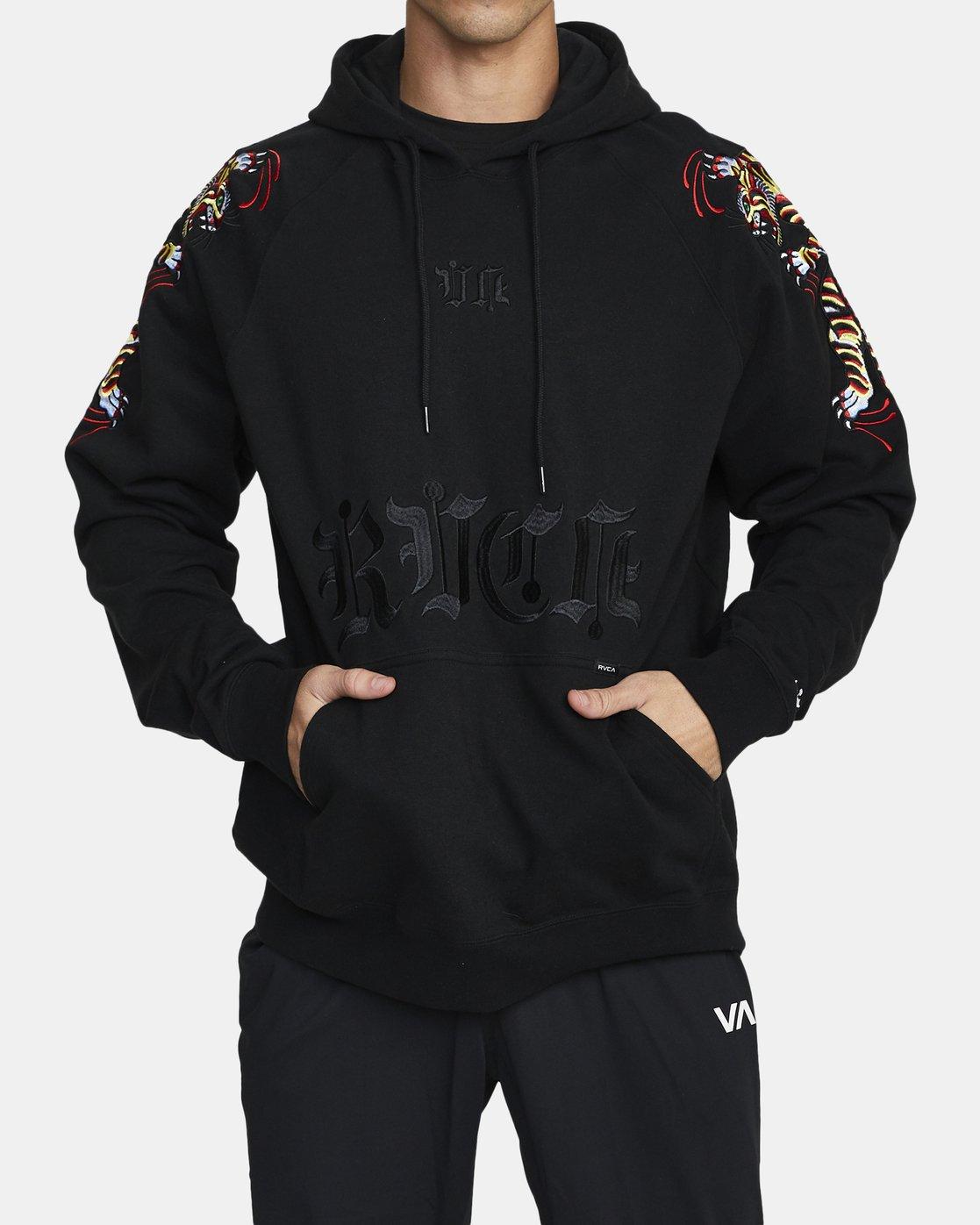 0 Tiger Krak - Hoodie for Men Black U4HOMBRVF0 RVCA