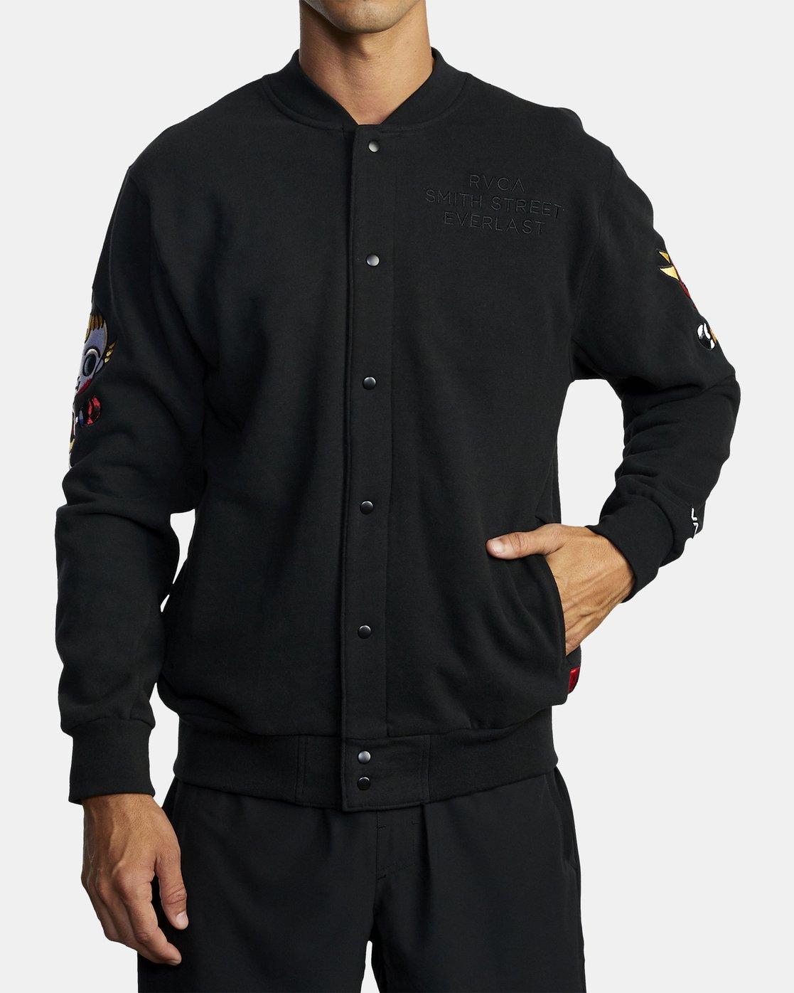1 Everlast x Smith Street - Jacket for Men Black U4JKEARVF0 RVCA