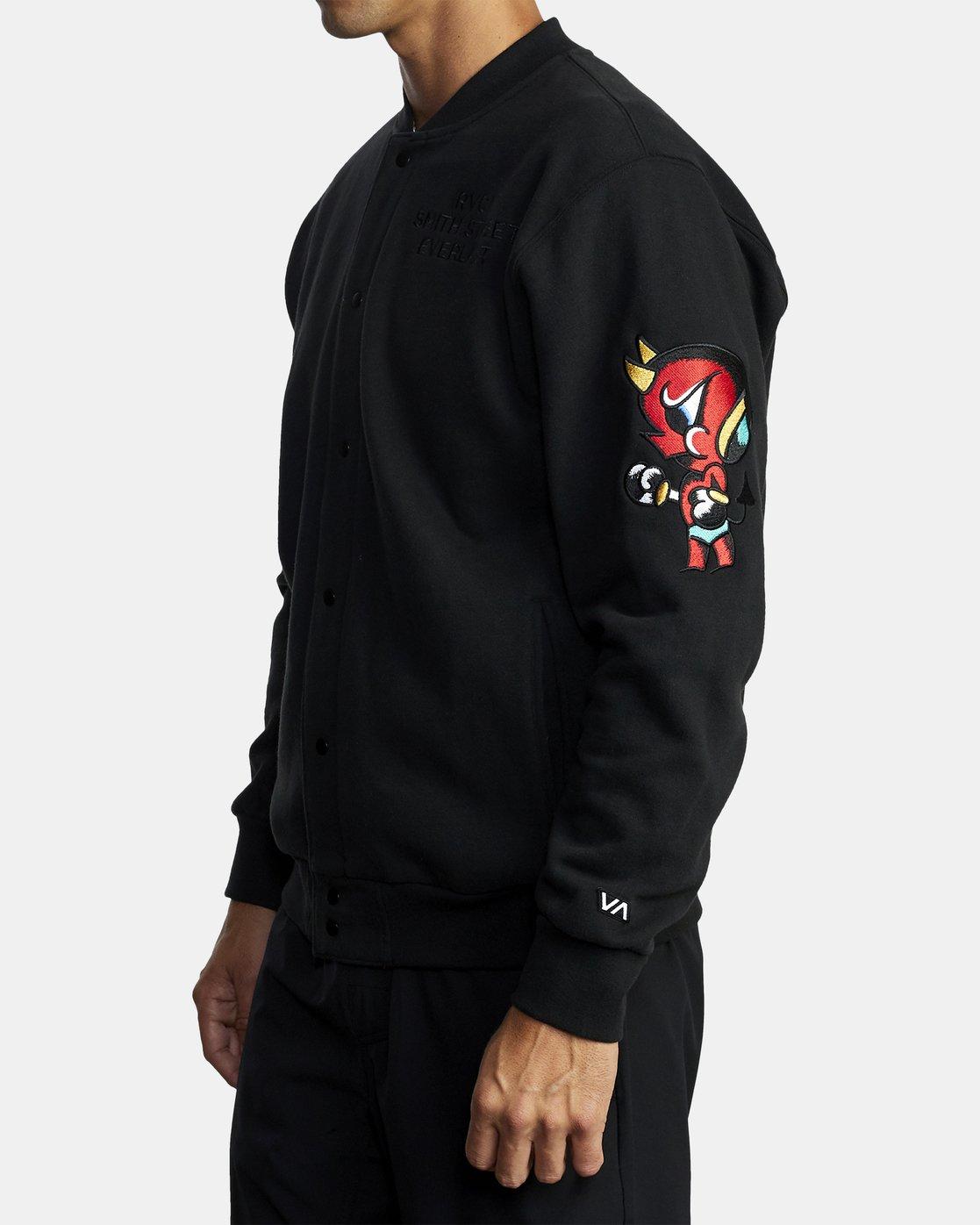 2 Everlast x Smith Street - Jacket for Men Black U4JKEARVF0 RVCA