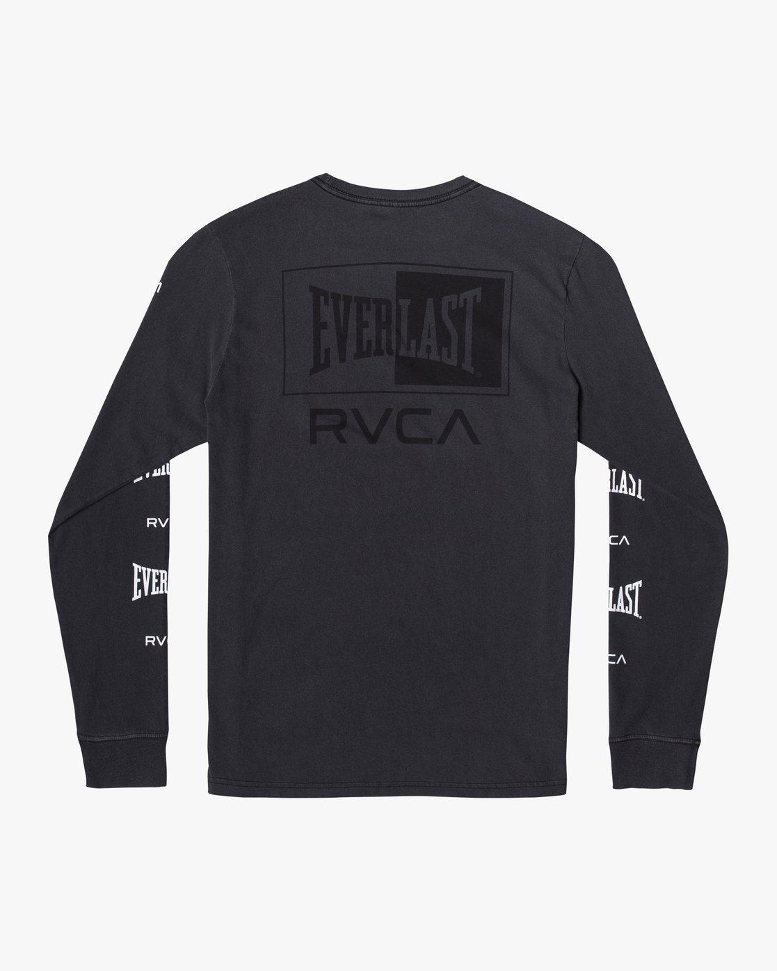 3 Everlast Box - Long Sleeve T-Shirt for Men Black U4LSEARVF0 RVCA