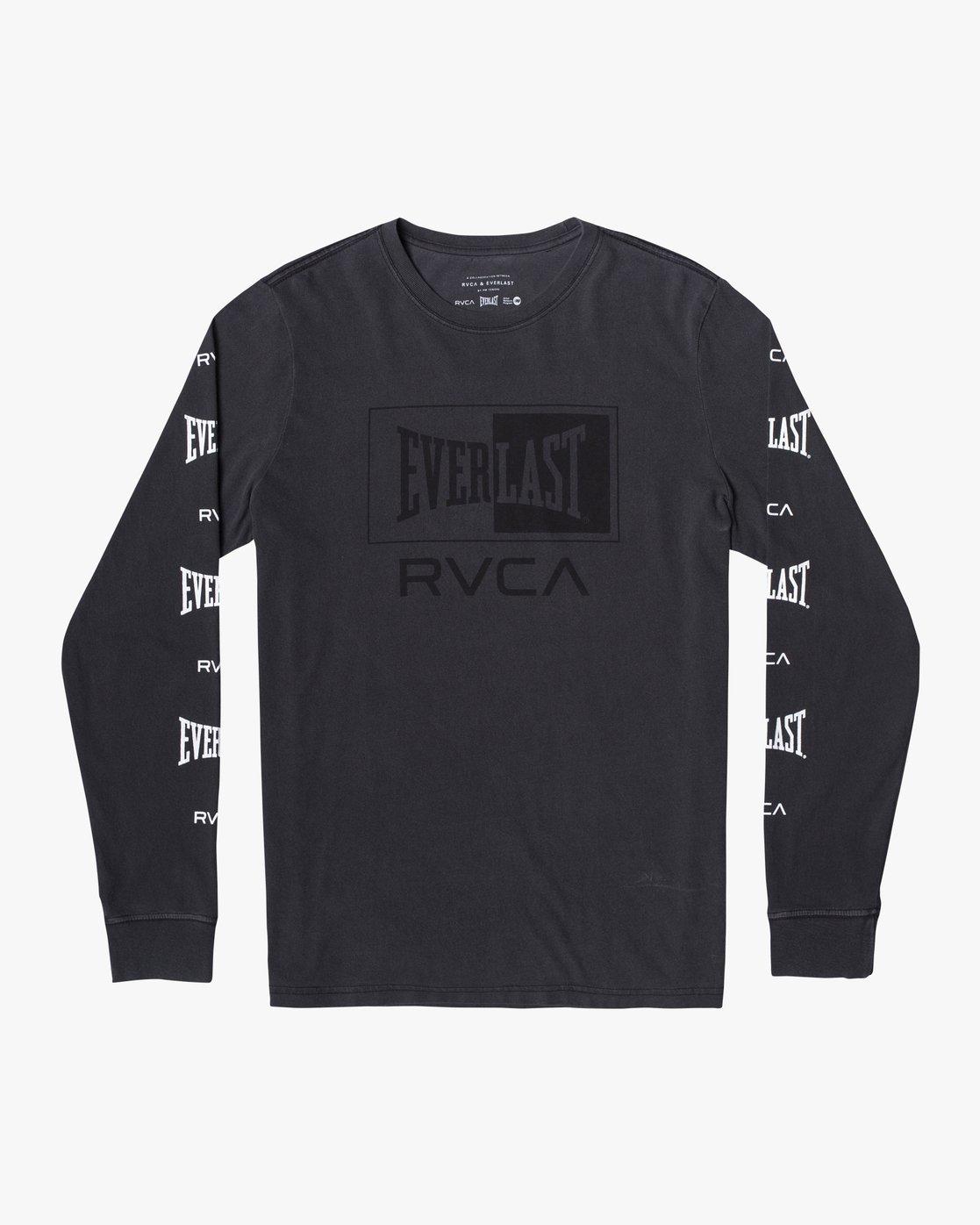 2 Everlast Box - Long Sleeve T-Shirt for Men Black U4LSEARVF0 RVCA