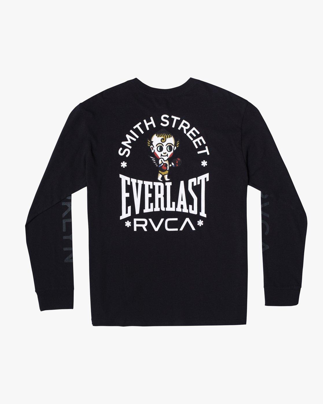 1 Everlast x Smith Street Big Angel - T-shirt manches longues pour Homme Noir U4LSECRVF0 RVCA