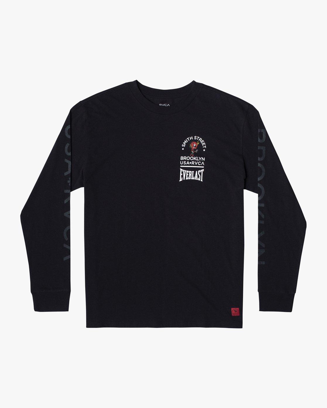 0 Everlast x Smith Street Big Angel - T-shirt manches longues pour Homme Noir U4LSECRVF0 RVCA