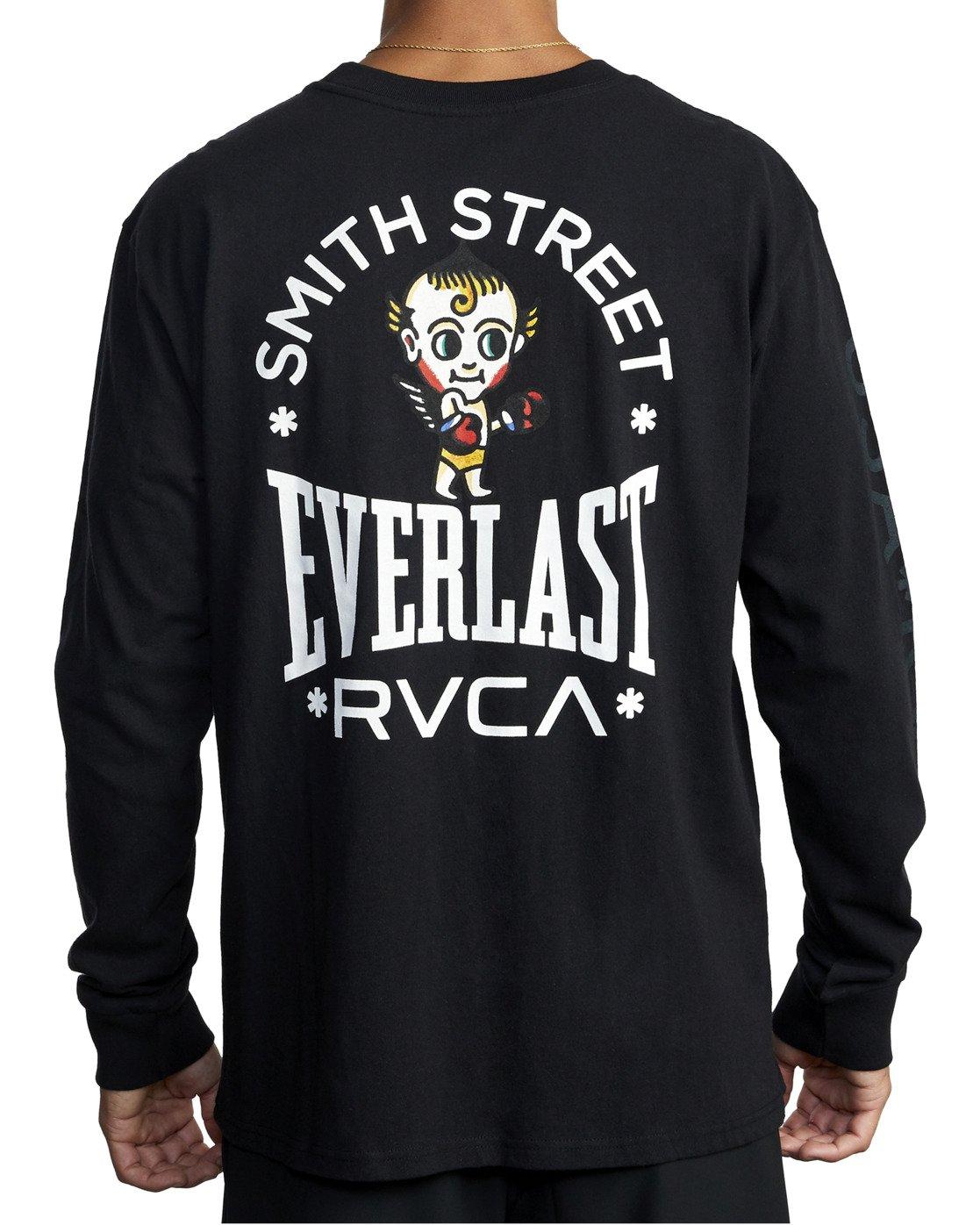 9 Everlast x Smith Street Big Angel - Long Sleeve T-Shirt for Men Black U4LSECRVF0 RVCA