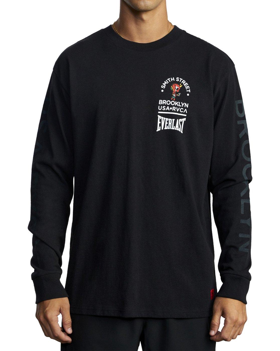 8 Everlast x Smith Street Big Angel - Long Sleeve T-Shirt for Men Black U4LSECRVF0 RVCA