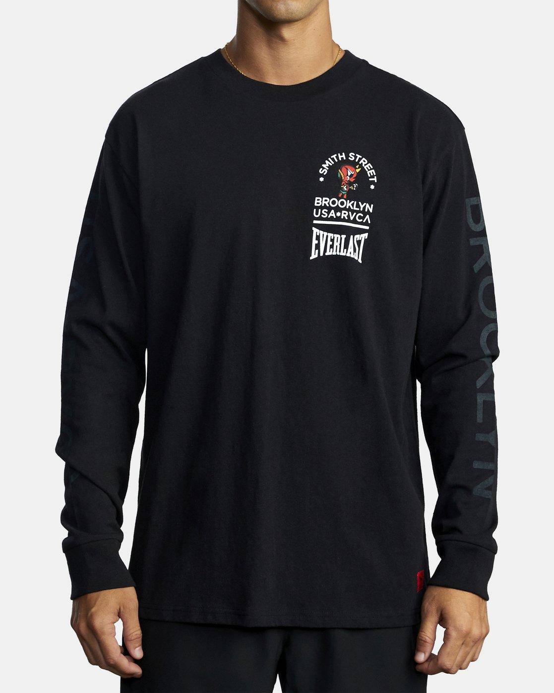 2 Everlast x Smith Street Big Angel - T-shirt manches longues pour Homme Noir U4LSECRVF0 RVCA