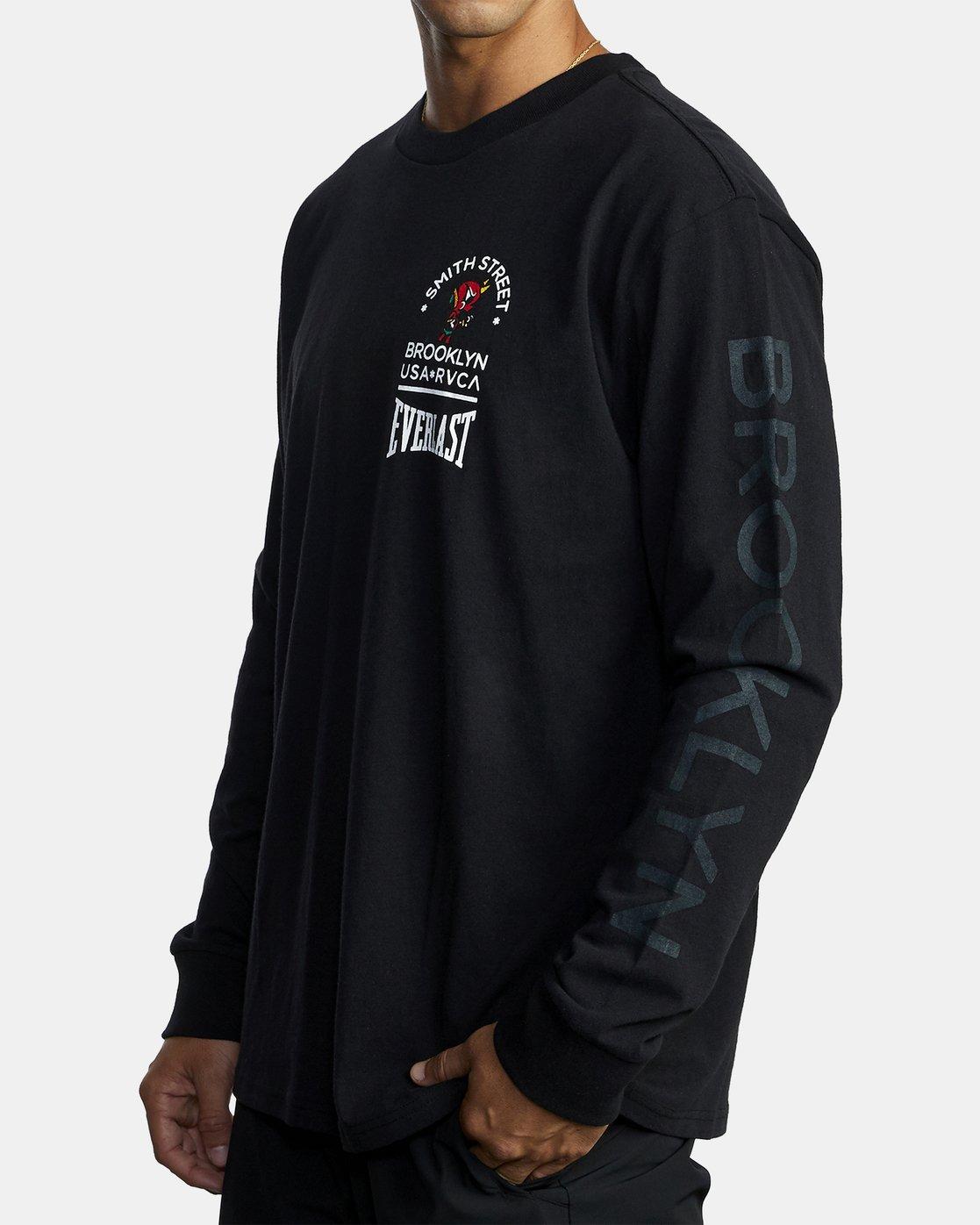 6 Everlast x Smith Street Big Angel - Long Sleeve T-Shirt for Men Black U4LSECRVF0 RVCA