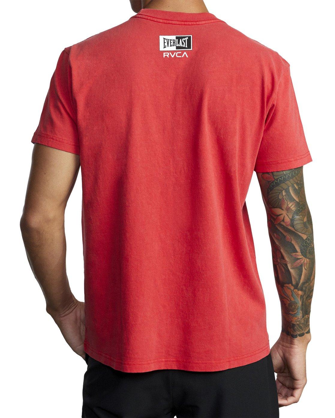 8 Everlast Box - T-Shirt for Men Red U4SSEBRVF0 RVCA