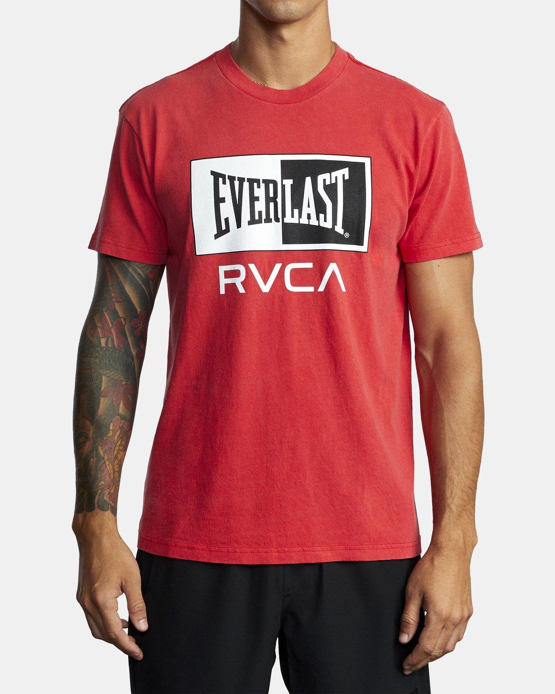 4 Everlast Box - T-Shirt for Men Red U4SSEBRVF0 RVCA