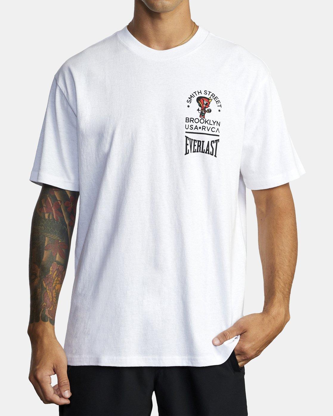 2 Everlast x Smith Street Big Angel - T-Shirt for Men White U4SSECRVF0 RVCA