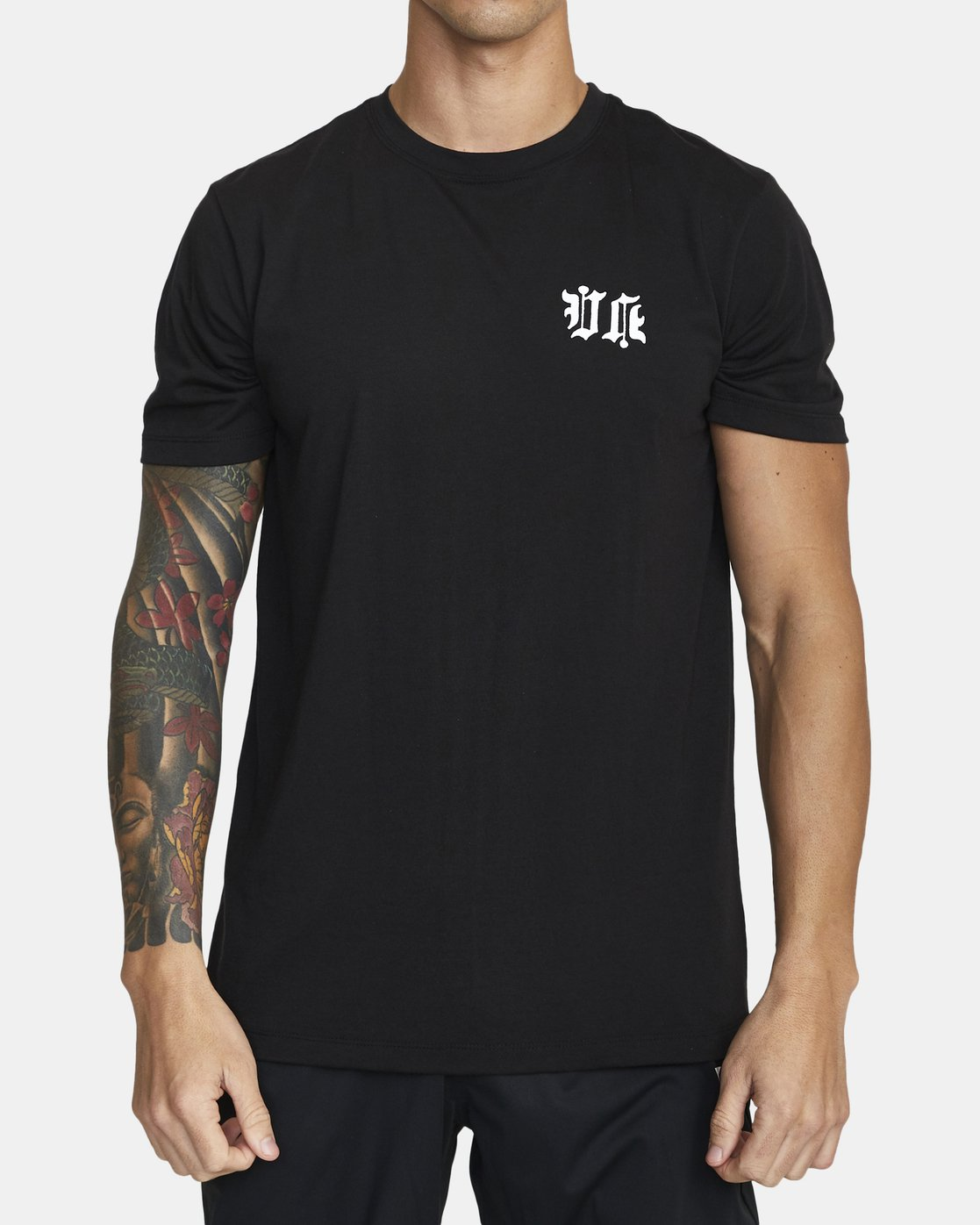 1 Tiger Krak - T-Shirt for Men Black U4SSMDRVF0 RVCA