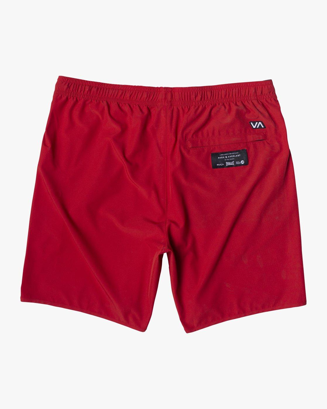 "3 Everlast Yogger IV 17"" - Workout Shorts for Men Red U4WKEARVF0 RVCA"