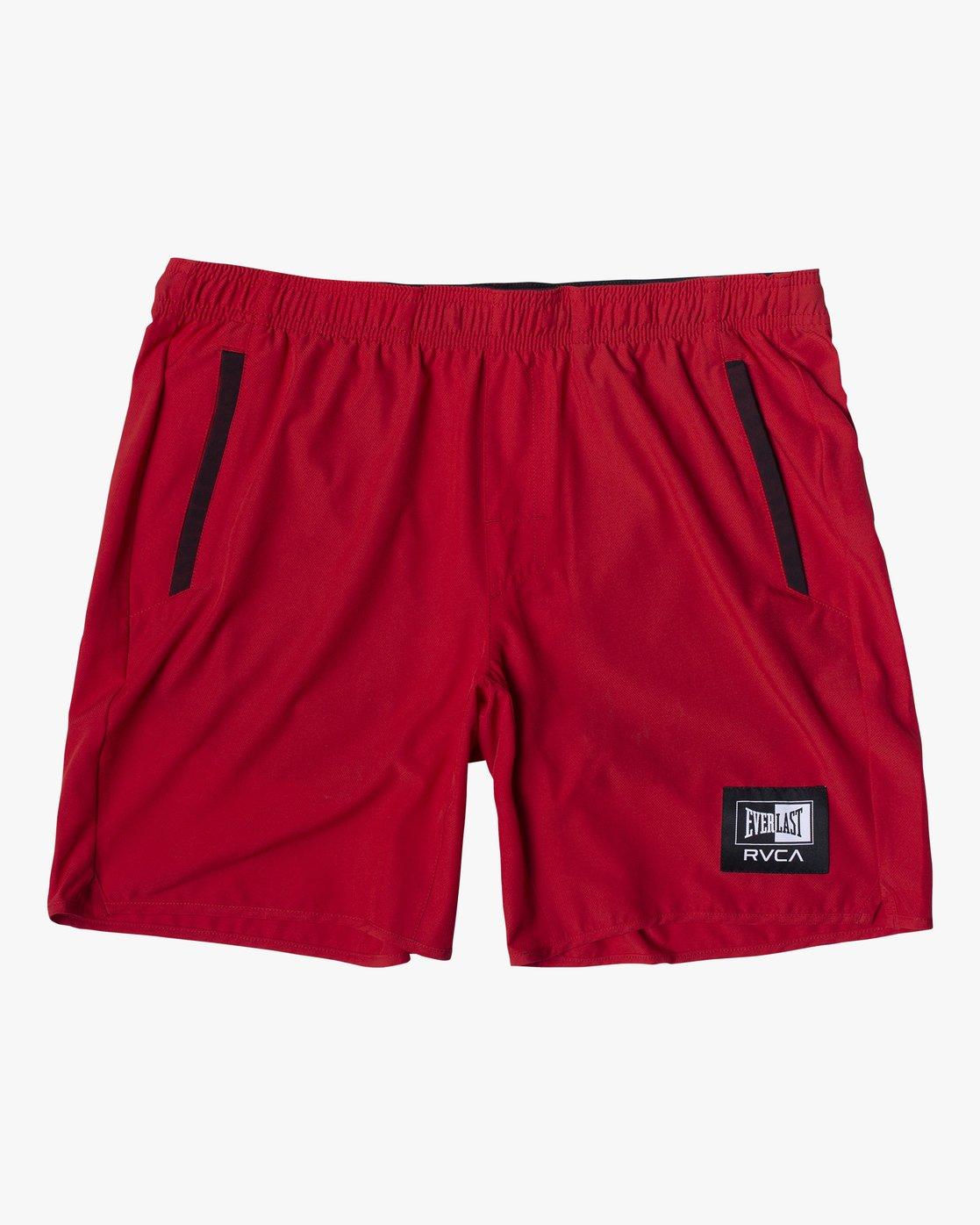 "2 Everlast Yogger IV 17"" - Workout Shorts for Men Red U4WKEARVF0 RVCA"