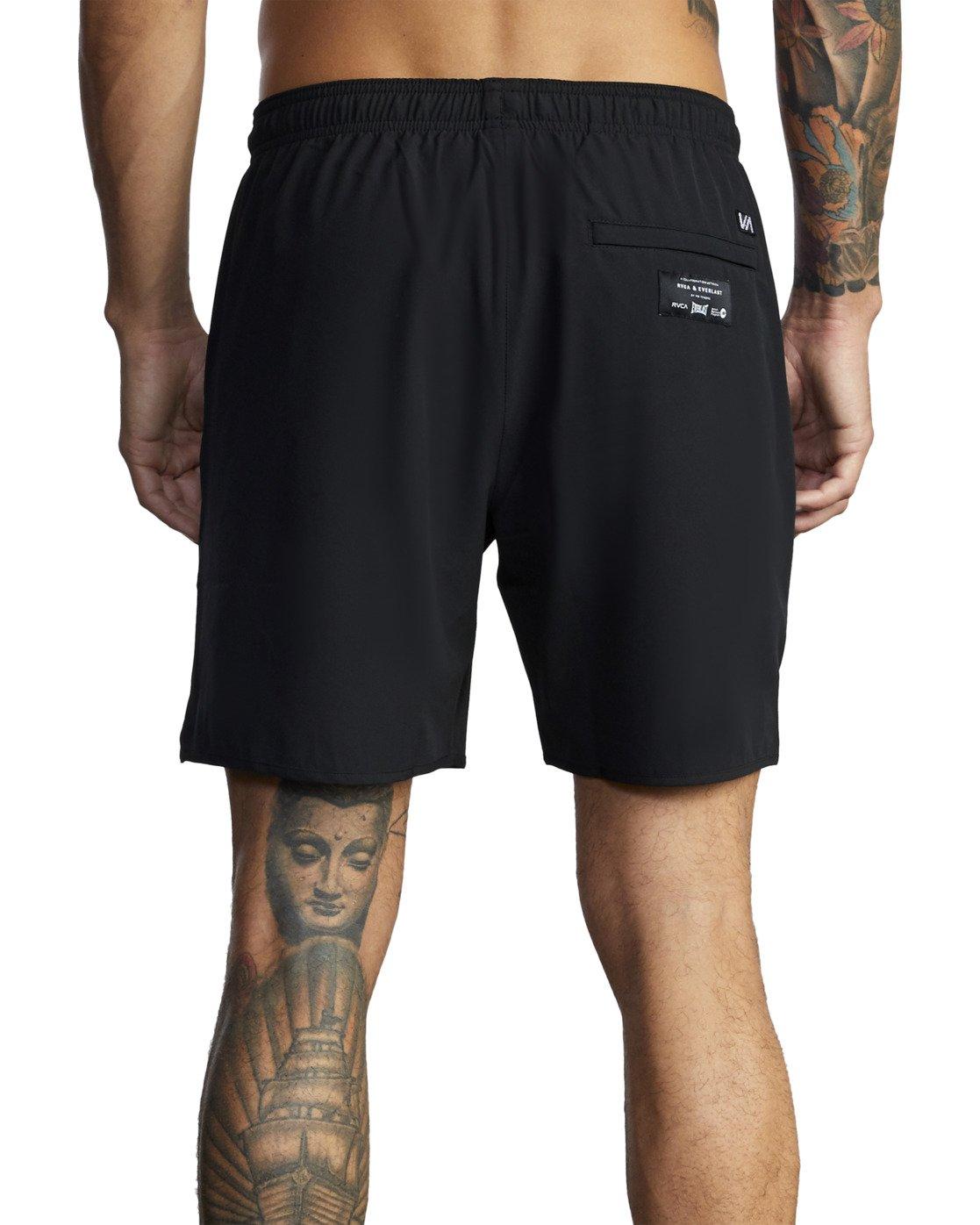 "9 Everlast Yogger IV 17"" - Workout Shorts for Men Black U4WKEARVF0 RVCA"