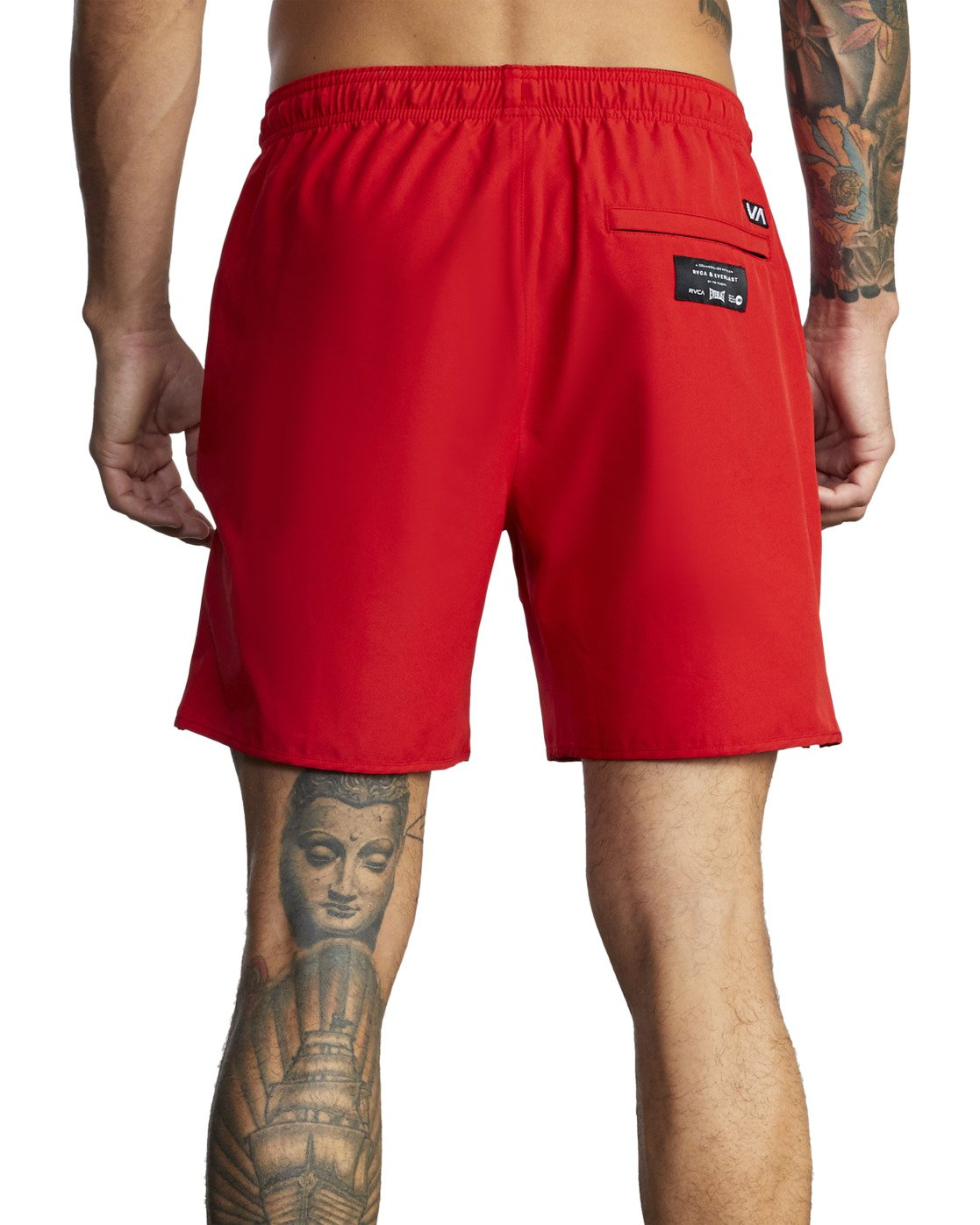 "11 Everlast Yogger IV 17"" - Workout Shorts for Men Red U4WKEARVF0 RVCA"