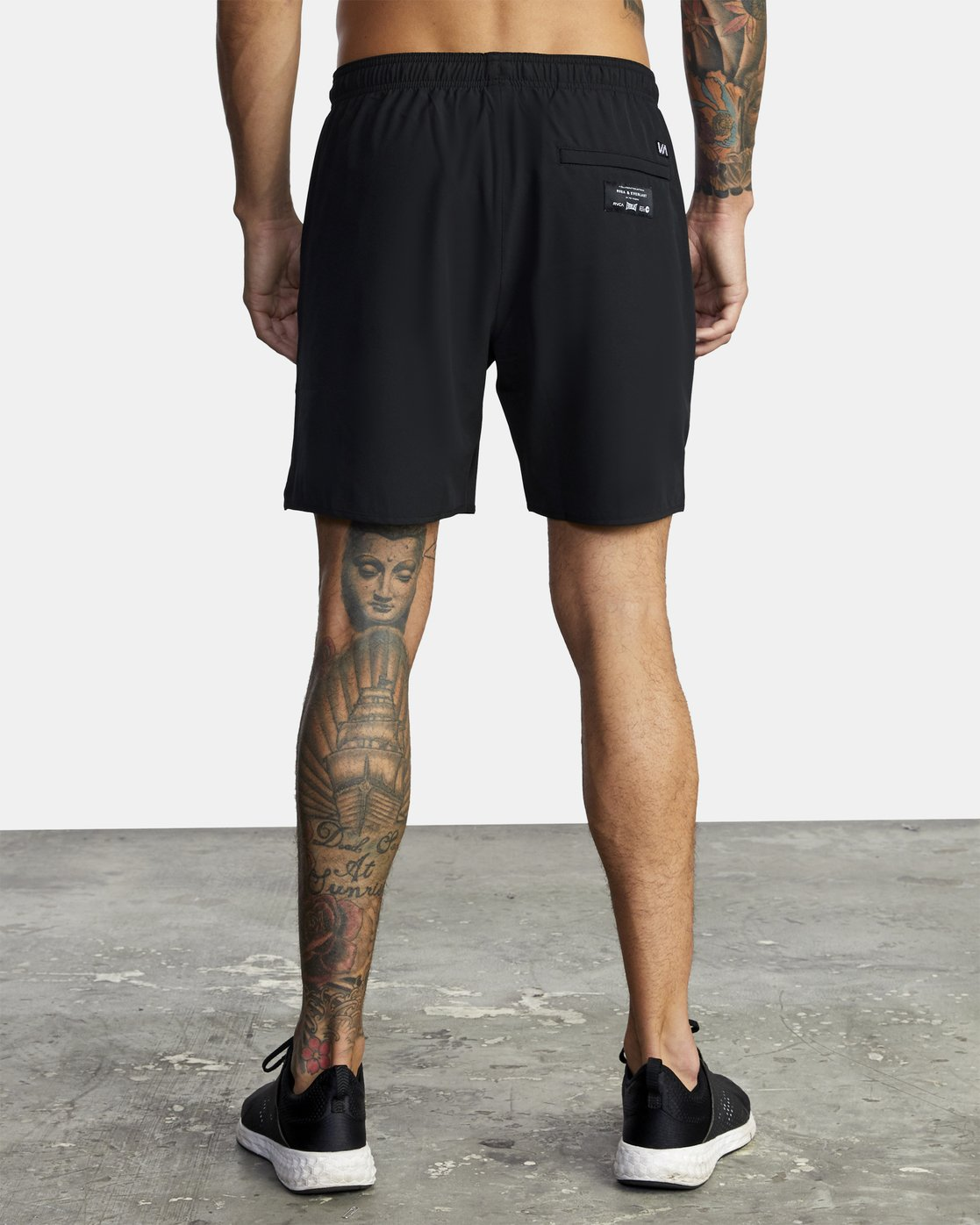 "3 Everlast Yogger IV 17"" - Workout Shorts for Men Black U4WKEARVF0 RVCA"