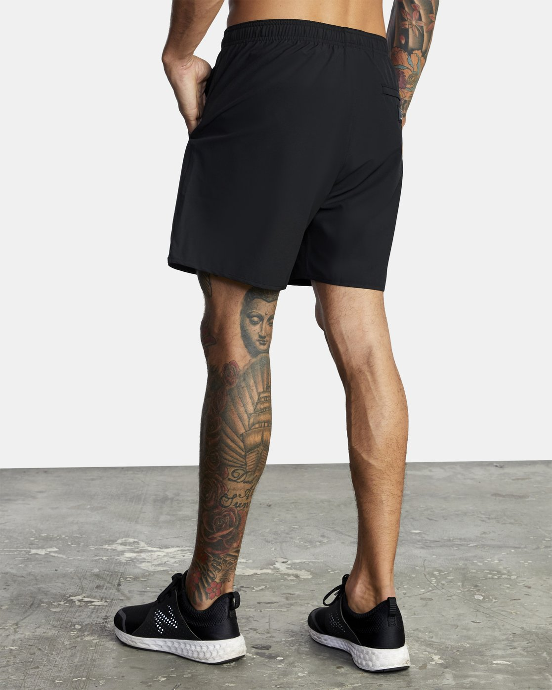 "5 Everlast Yogger IV 17"" - Workout Shorts for Men Black U4WKEARVF0 RVCA"