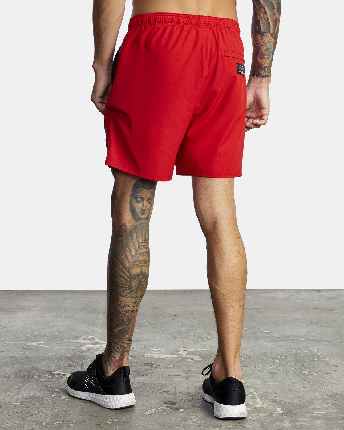"7 Everlast Yogger IV 17"" - Workout Shorts for Men Red U4WKEARVF0 RVCA"