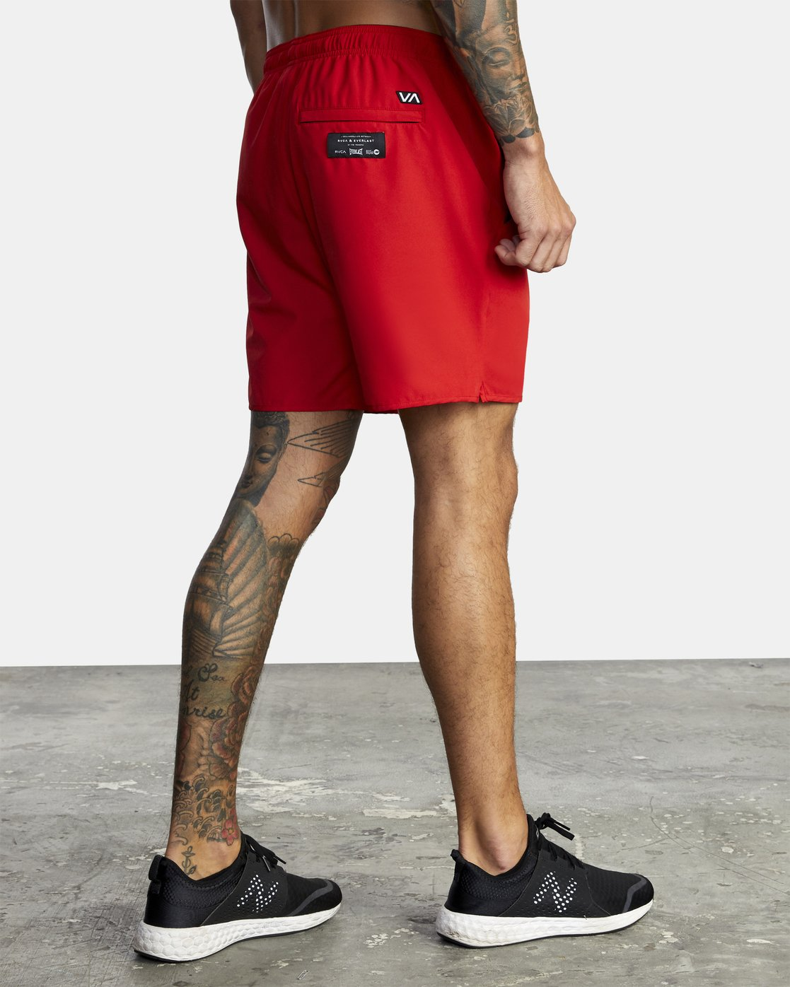 "8 Everlast Yogger IV 17"" - Workout Shorts for Men Red U4WKEARVF0 RVCA"