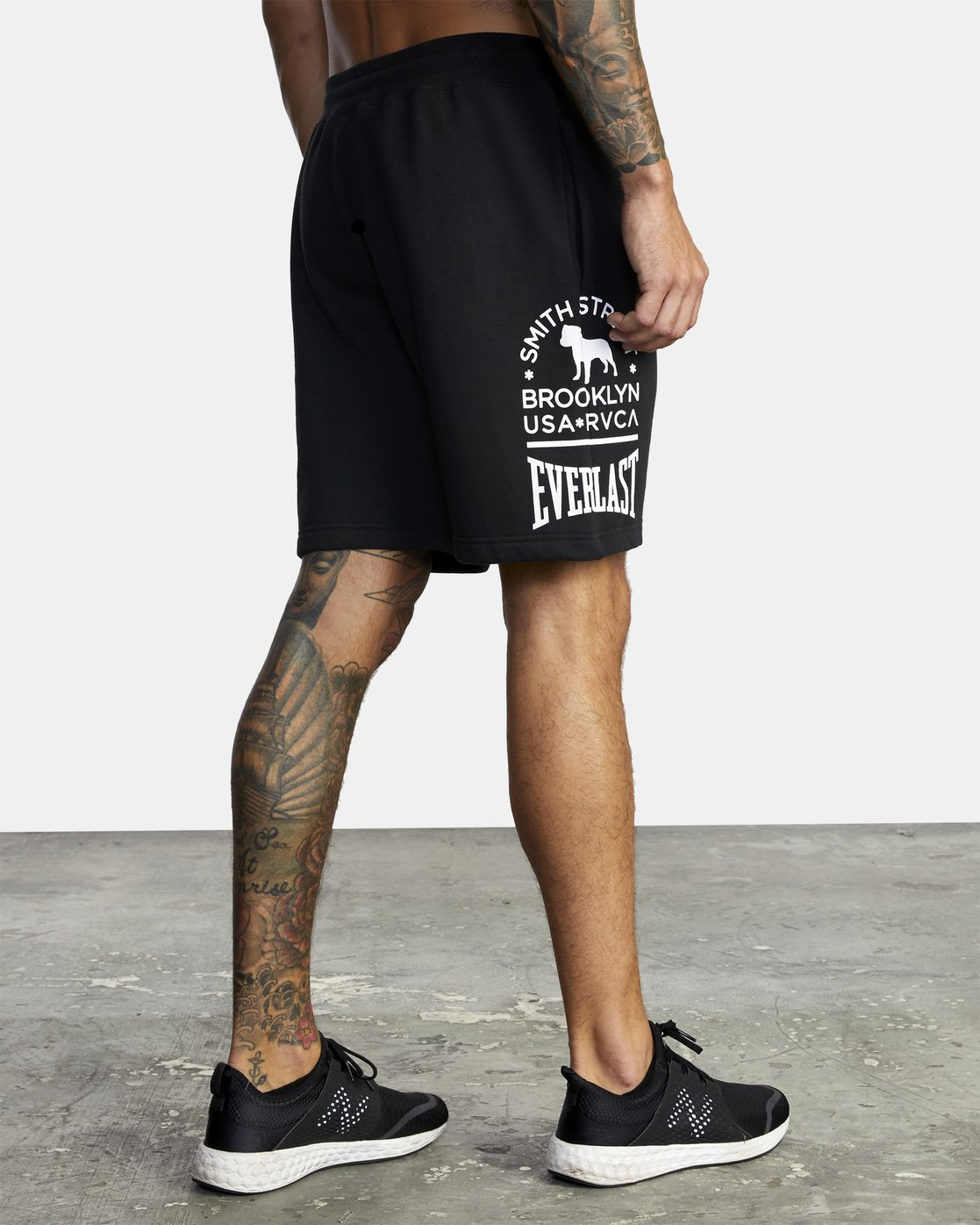 6 Everlast x Smith Street - Workout Shorts for Men Black U4WKECRVF0 RVCA