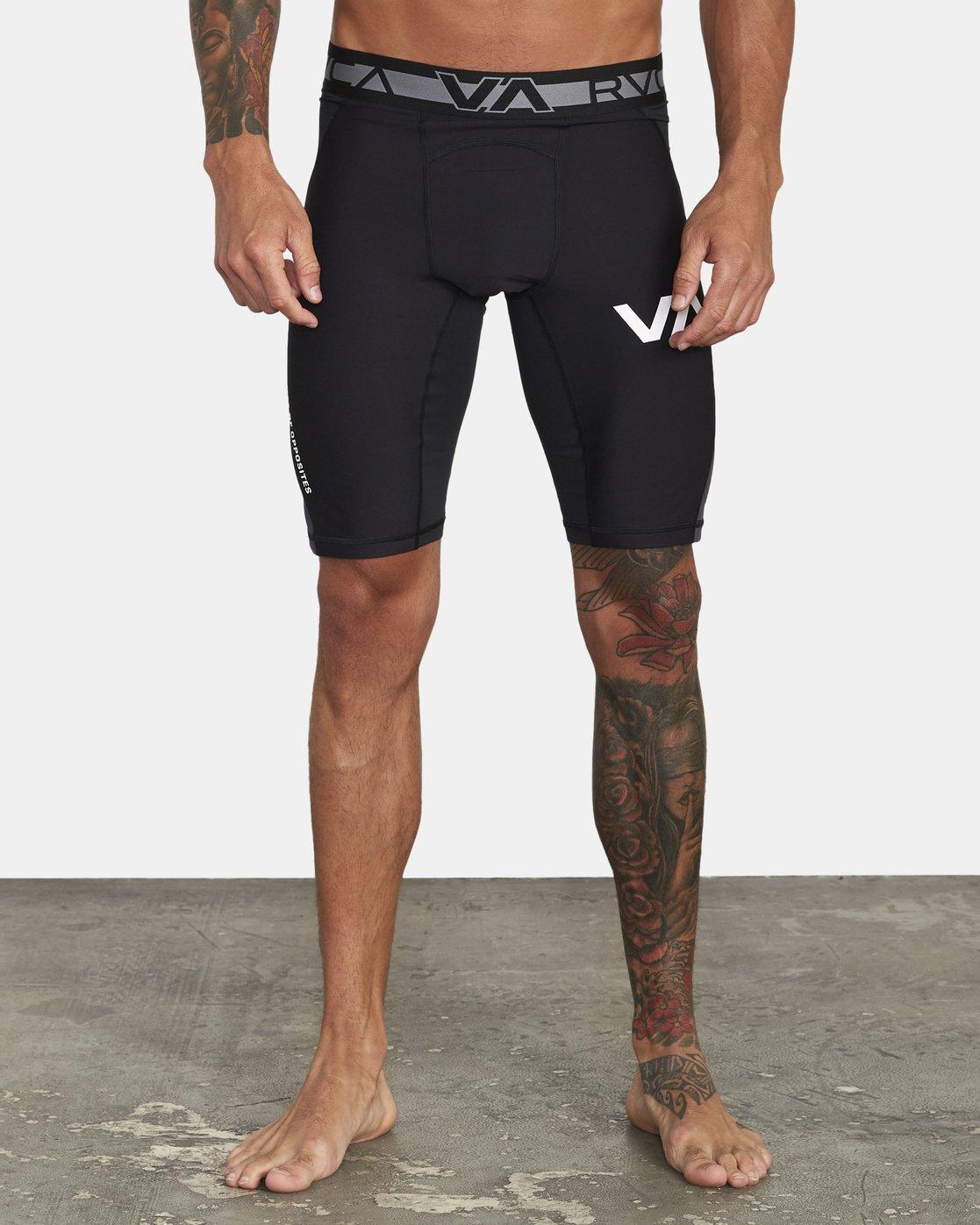 0 VA Sport - Short de compression pour Homme Noir U4WKMIRVF0 RVCA