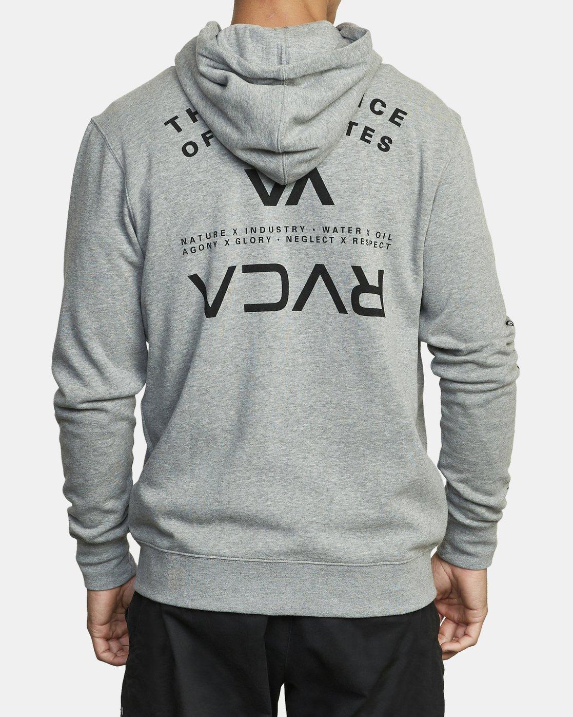 5 VA Sport Swift - Sweat à capuche pour Homme Gris U4ZHMARVF0 RVCA