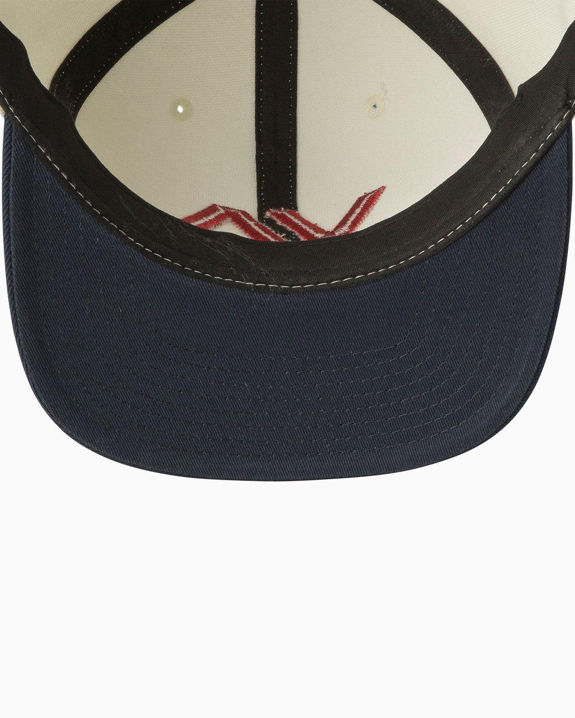 2 VA II - Snapback Cap for Men White U5CPRBRVF5 RVCA