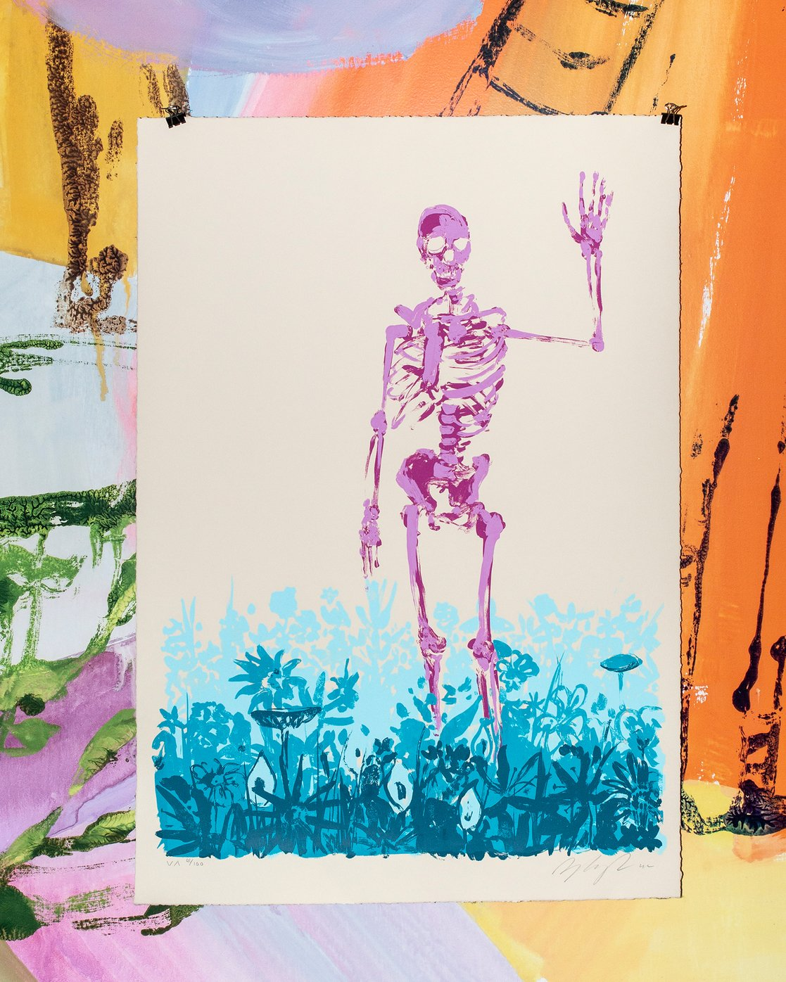 """2 Limited Edition """"Later"""" Print By Sage Vaughn Multicolor UE01XRSV RVCA"""