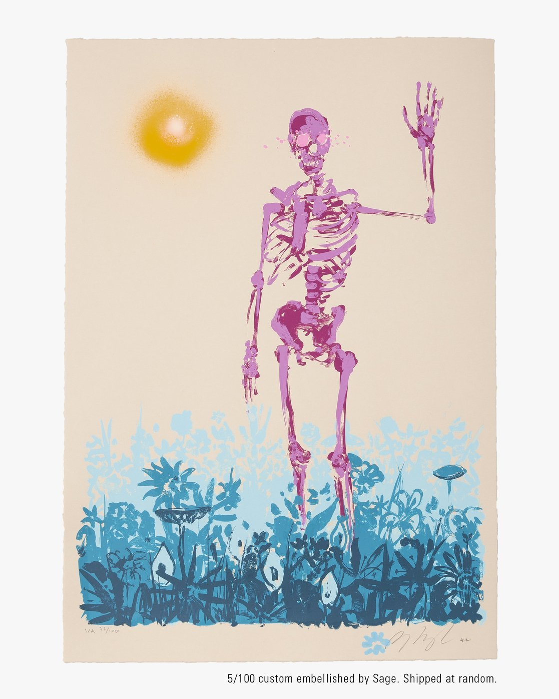 """1 Limited Edition """"Later"""" Print By Sage Vaughn Multicolor UE01XRSV RVCA"""