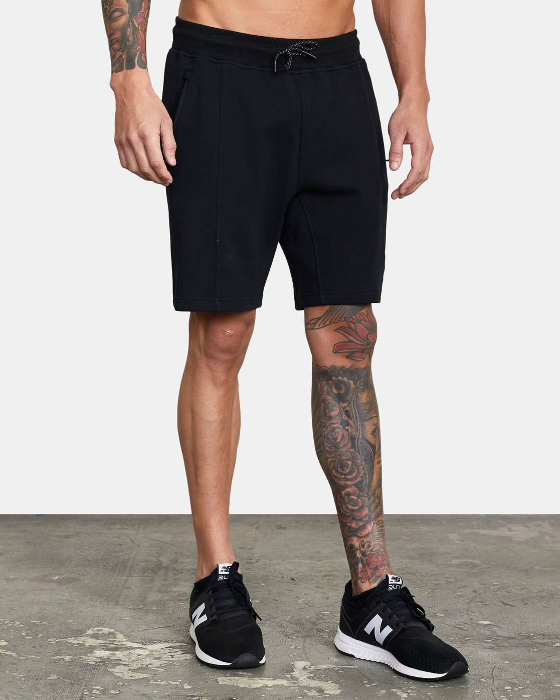 5 SPORT TECH SWEATSHORT Black V2013RSH RVCA