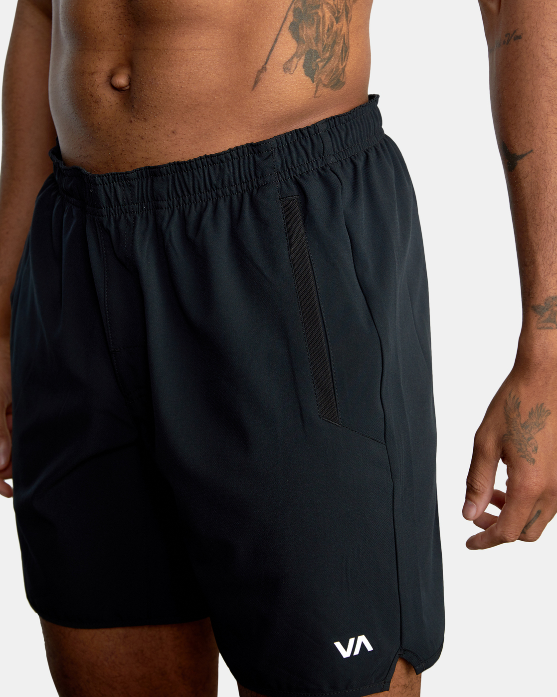 "14 YOGGER STRETCH ATHLETIC SHORTS 17"" Brown V201TRYS RVCA"