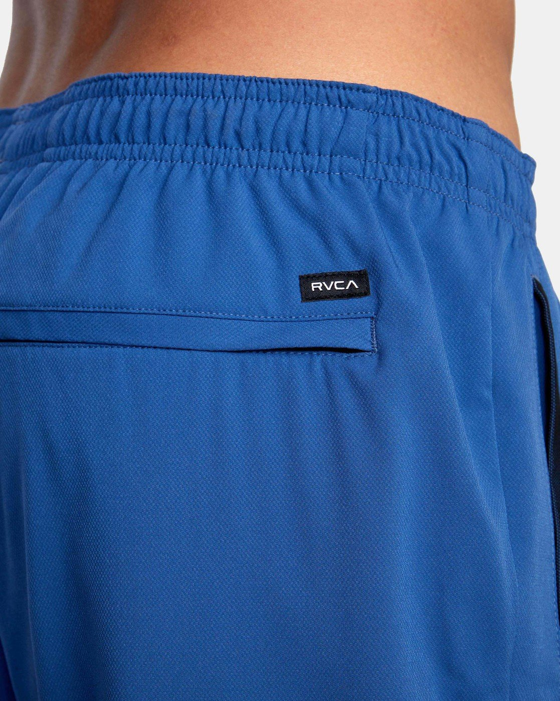 "9 YOGGER STRETCH ATHLETIC SHORTS 17"" Blue V201TRYS RVCA"
