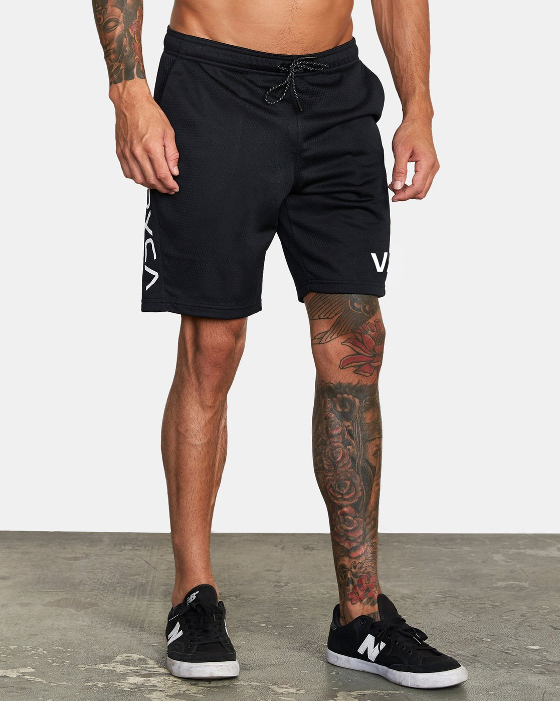 "6 VA MESH 20"" WORKOUT SHORT Black V2033RME RVCA"