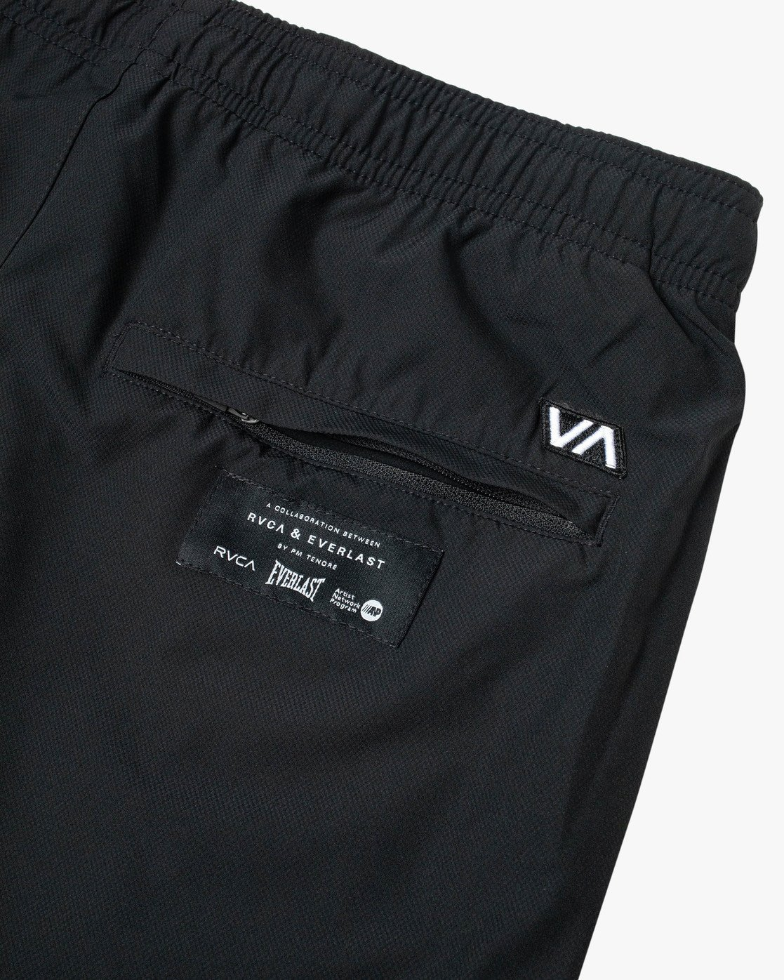 "11 EVERLAST YOGGER IV 17"" WORKOUT SHORT Black V2091REY RVCA"