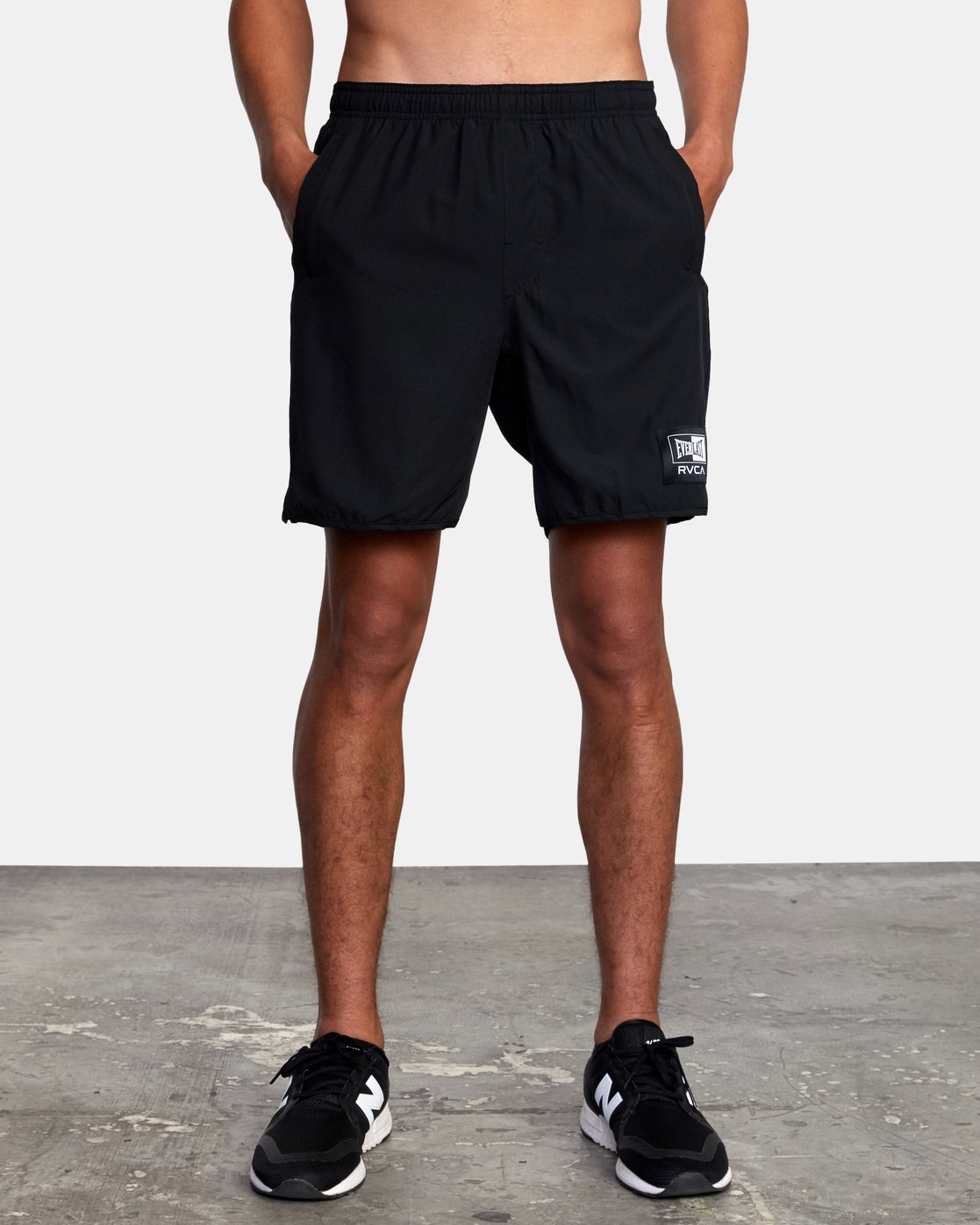 "9 EVERLAST YOGGER IV 17"" WORKOUT SHORT Black V2091REY RVCA"