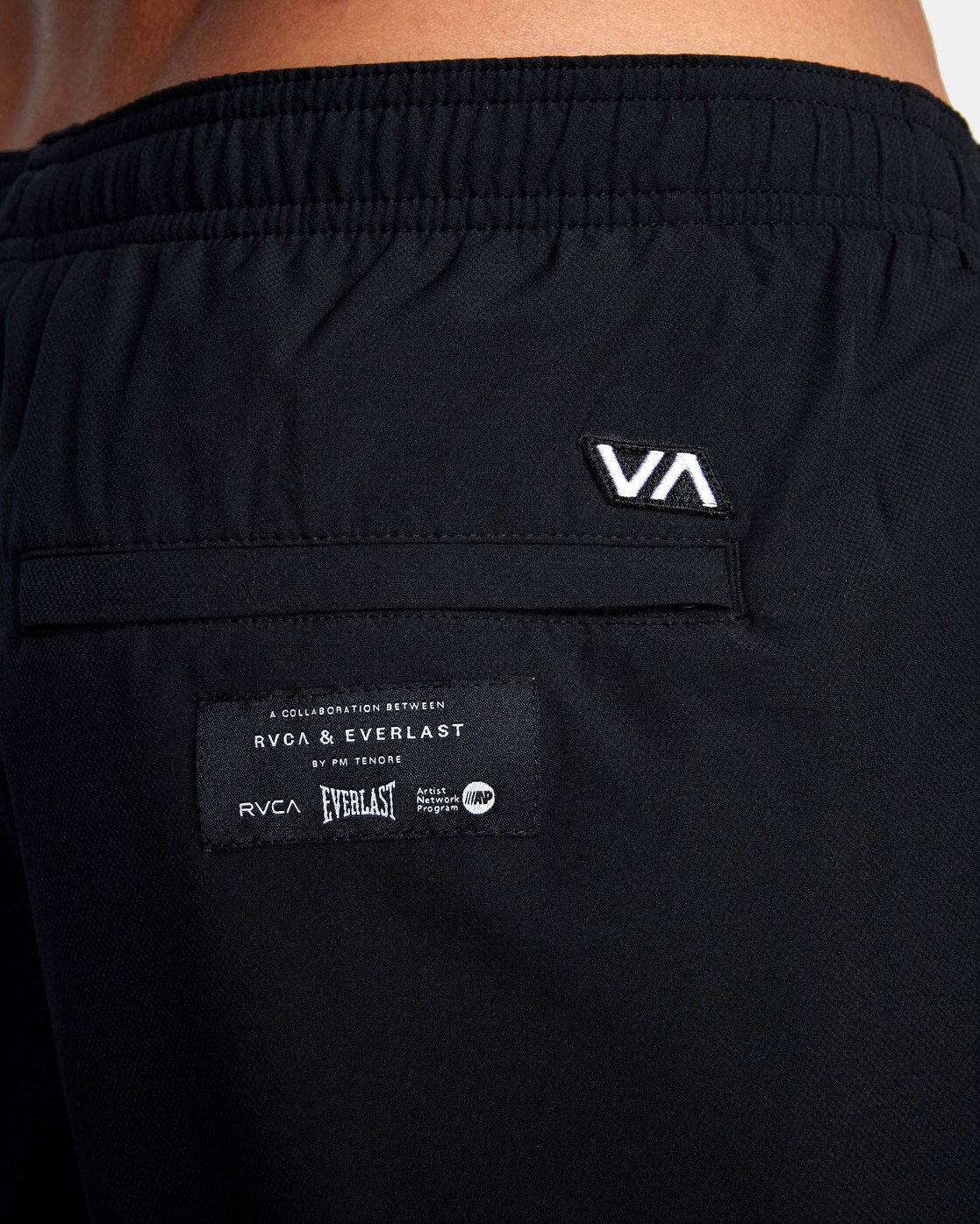 "16 EVERLAST YOGGER IV 17"" WORKOUT SHORT Black V2091REY RVCA"