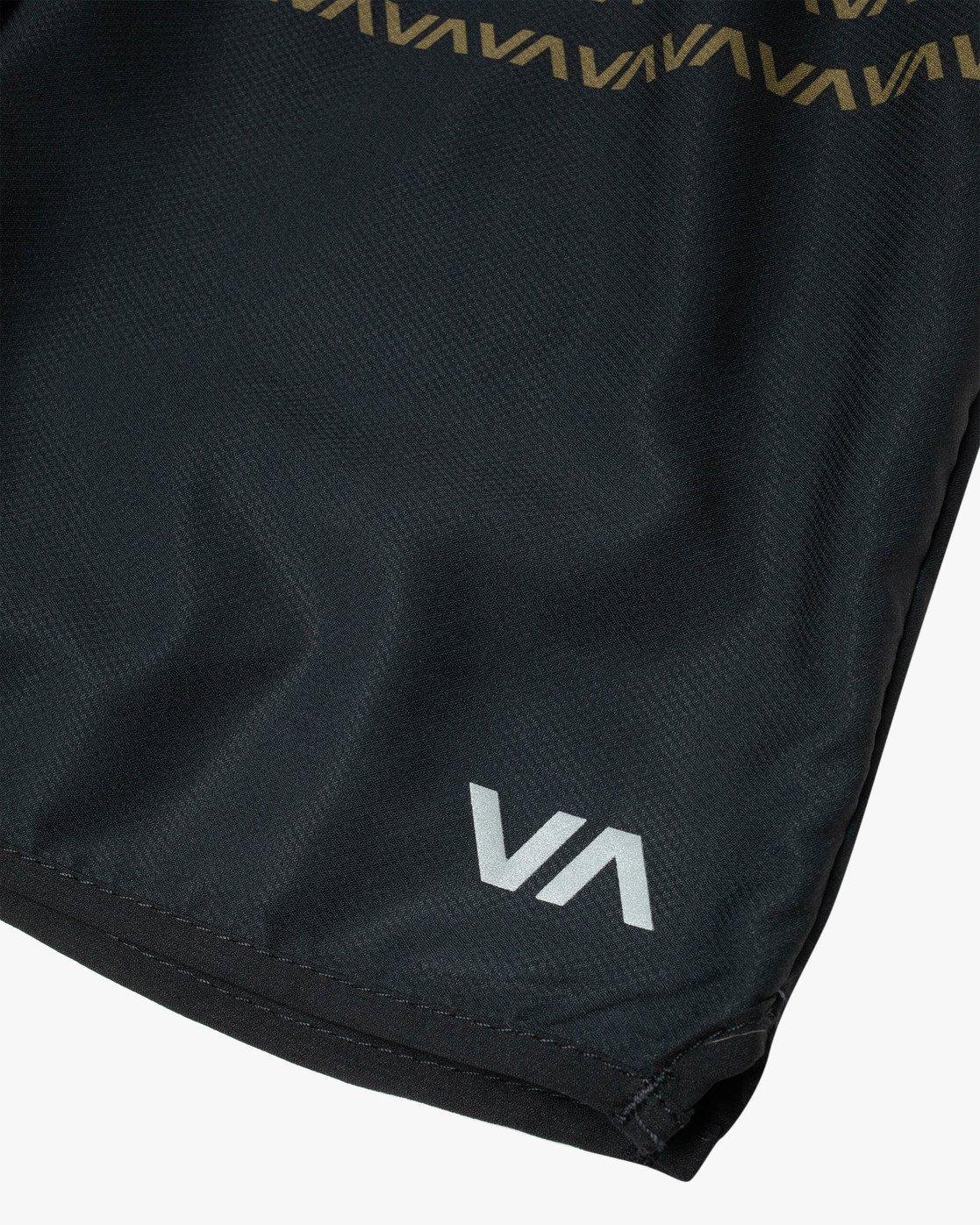"10 YOGGER IV ATHLETIC SHORTS 17"" Black V2091YGR RVCA"